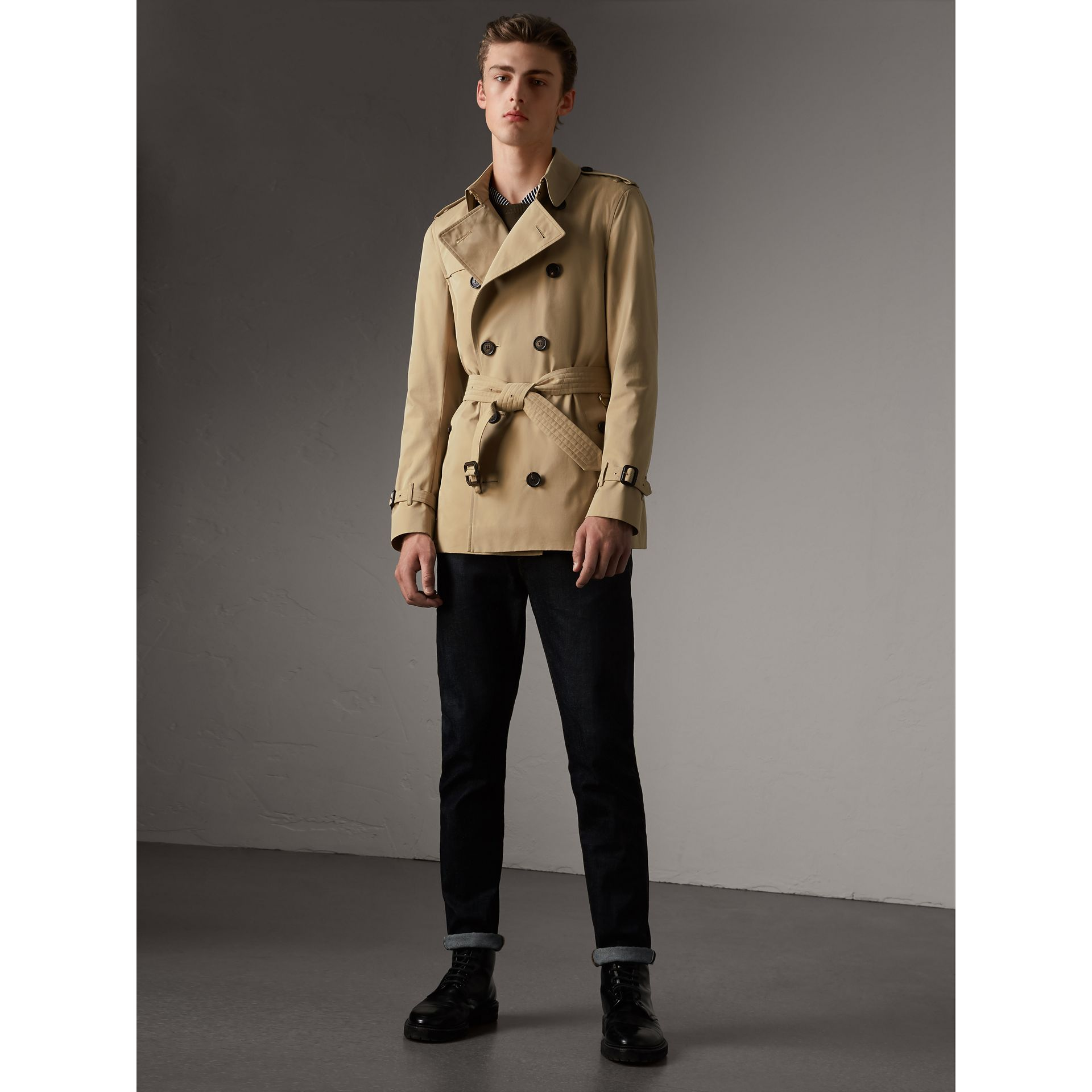The Sandringham – Trench court (Miel) - Homme | Burberry - photo de la galerie 6