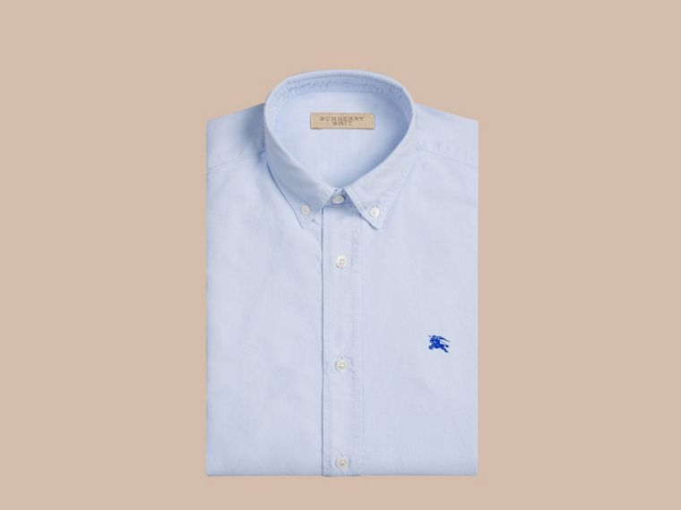 Cotton Oxford Shirt Pale Blue - cell image 1