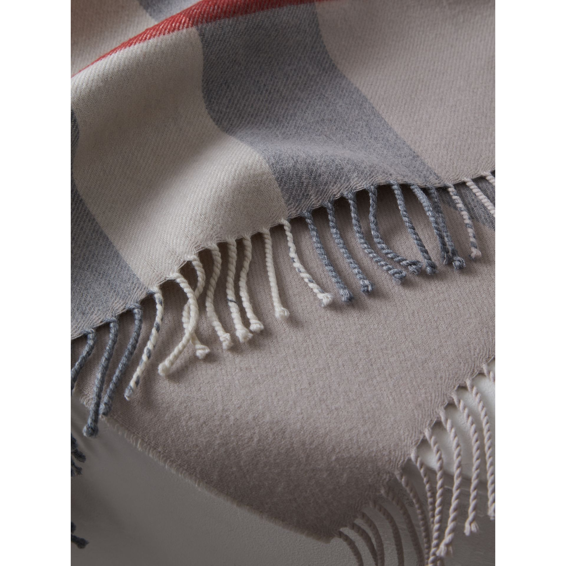 Check Merino Wool Baby Blanket in Stone | Burberry United Kingdom - gallery image 1