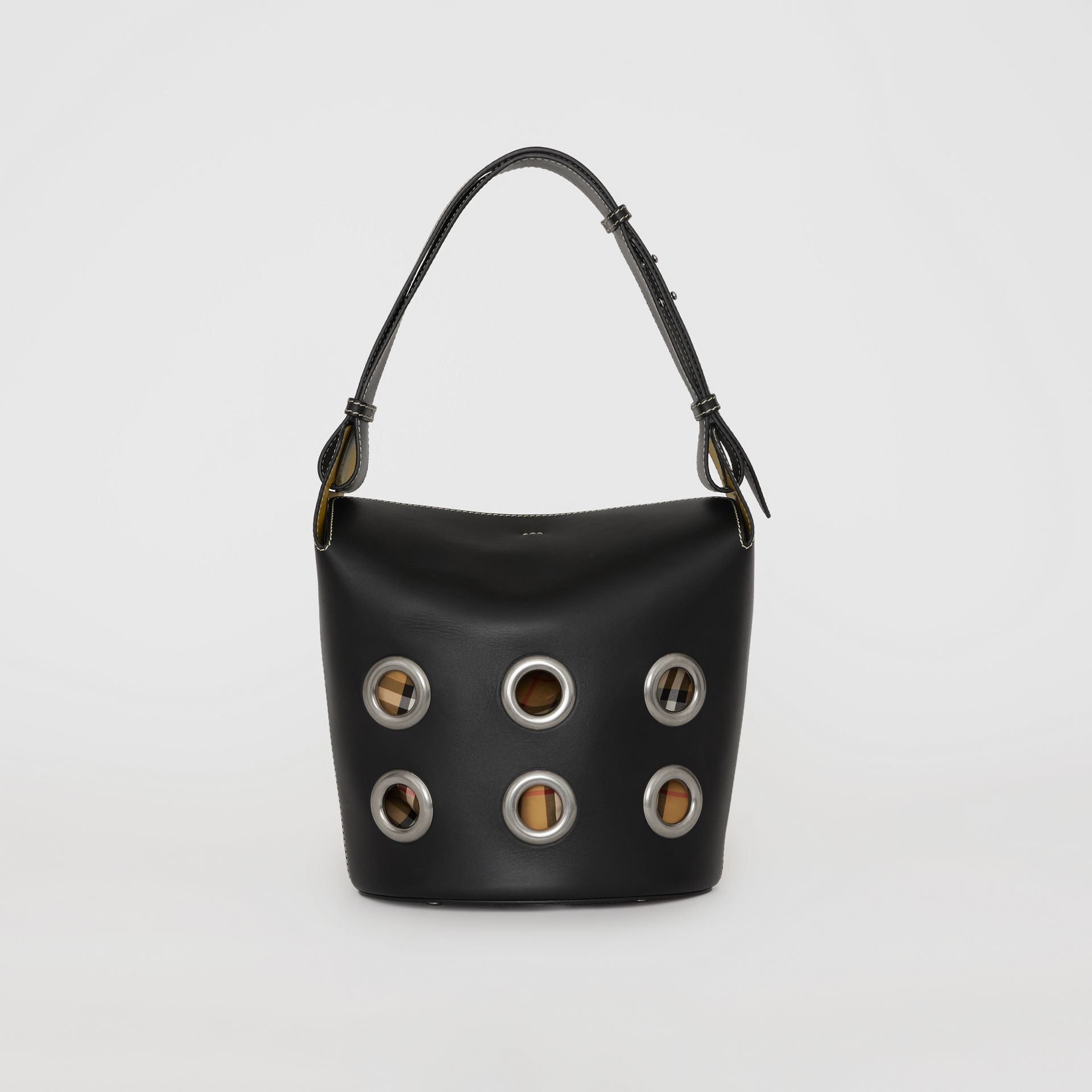 The Medium Bucket Bag aus Leder mit Ösendetails (Schwarz) - Damen | Burberry - Galerie-Bild 7