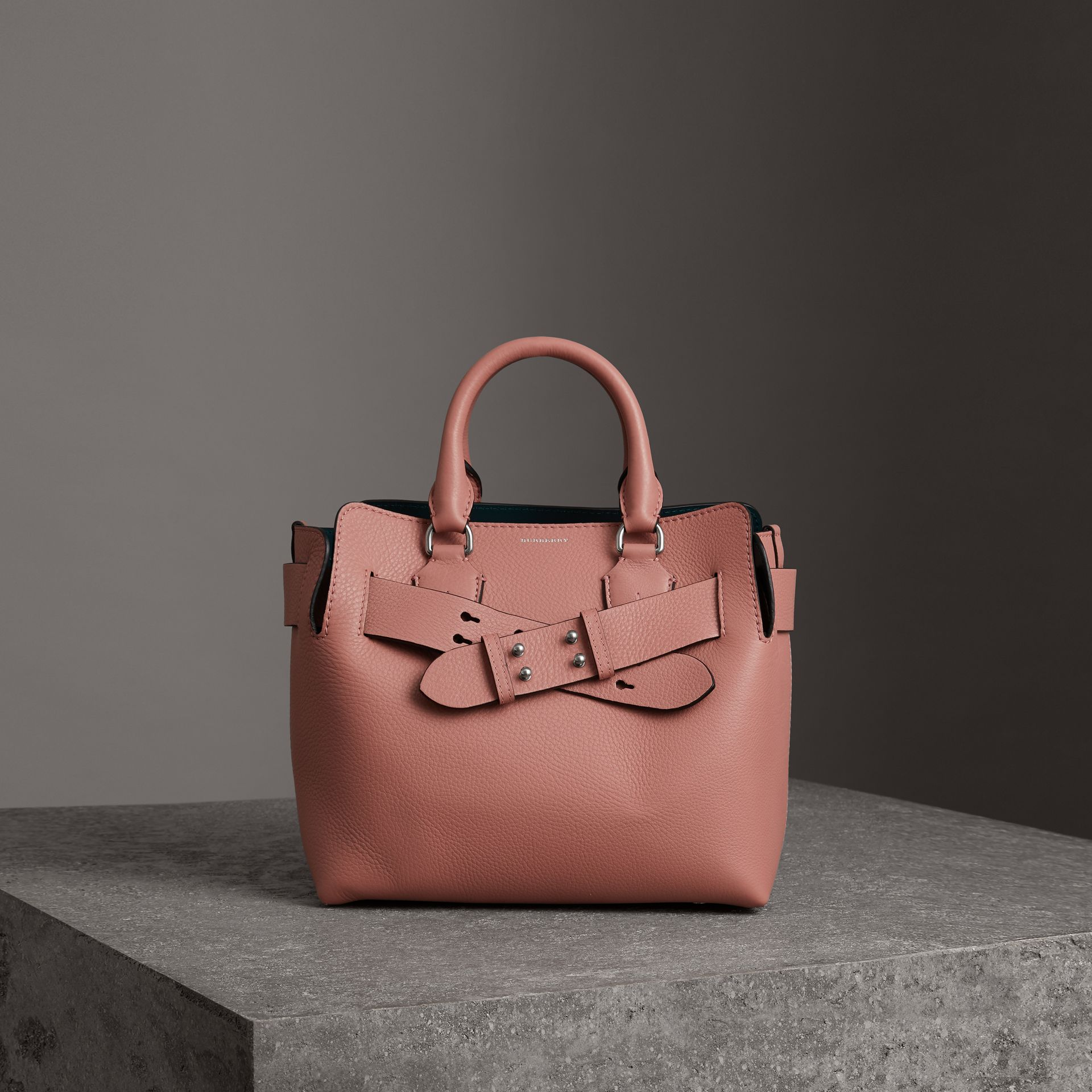 The Small Leather Belt Bag in Dusty Rose - Women | Burberry - gallery image 0