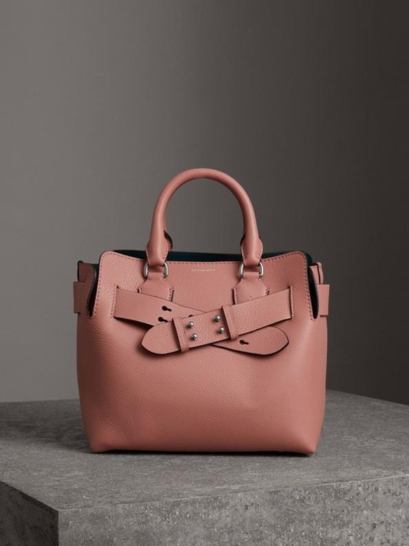 Bolsa Belt em couro - Pequena (Rosa Terroso)