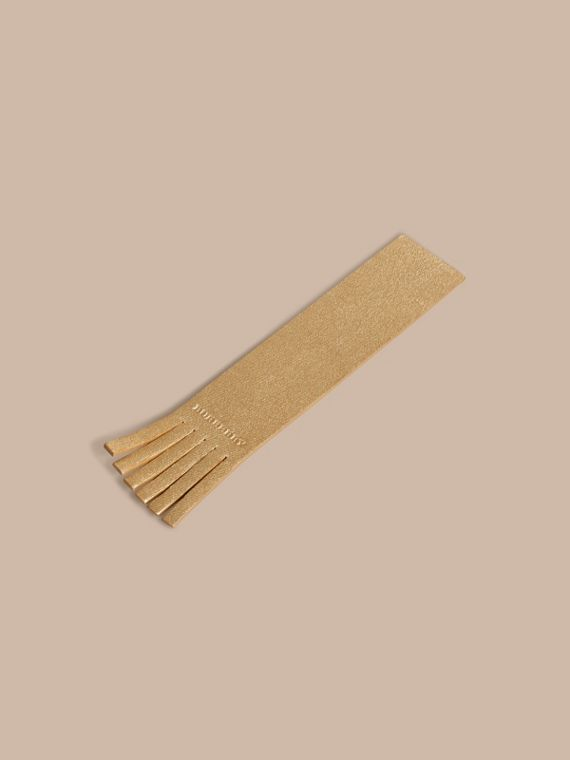 Gold Twill Embossed Leather Bookmark - cell image 2