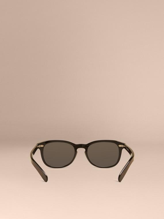 Black Square Frame Sunglasses Black - cell image 3