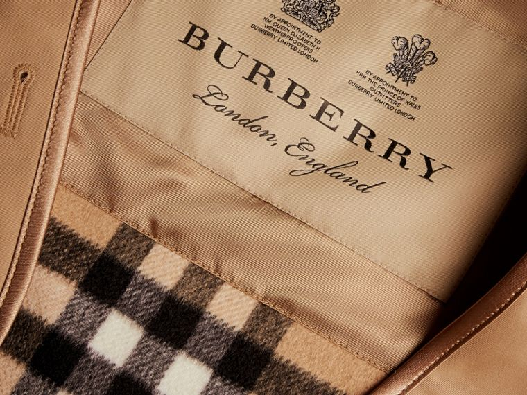 Sandringham-fit House Check Cashmere Wool Warmer in Camel - Men | Burberry - cell image 1