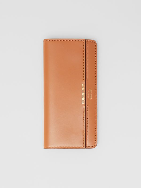 Horseferry Embossed Leather Continental Wallet in Nutmeg - Women | Burberry - cell image 3