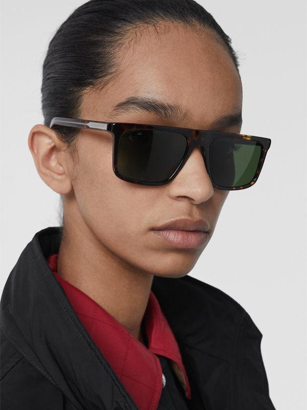 Straight-brow Sunglasses in Tortoise Shell - Men | Burberry - cell image 2