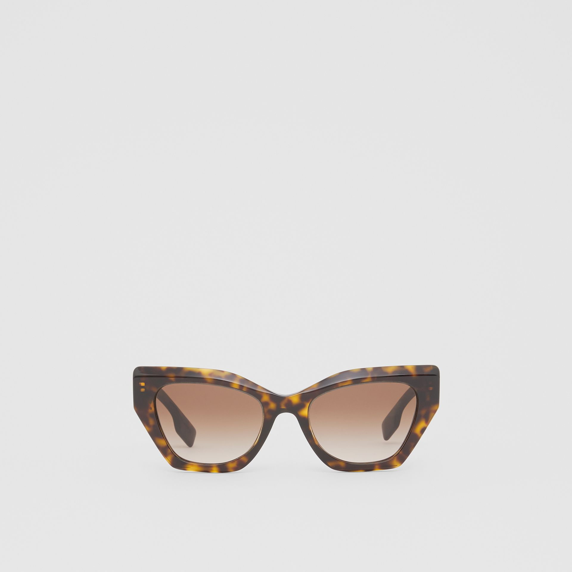 Butterfly Frame Sunglasses in Tortoiseshell - Women | Burberry - gallery image 0