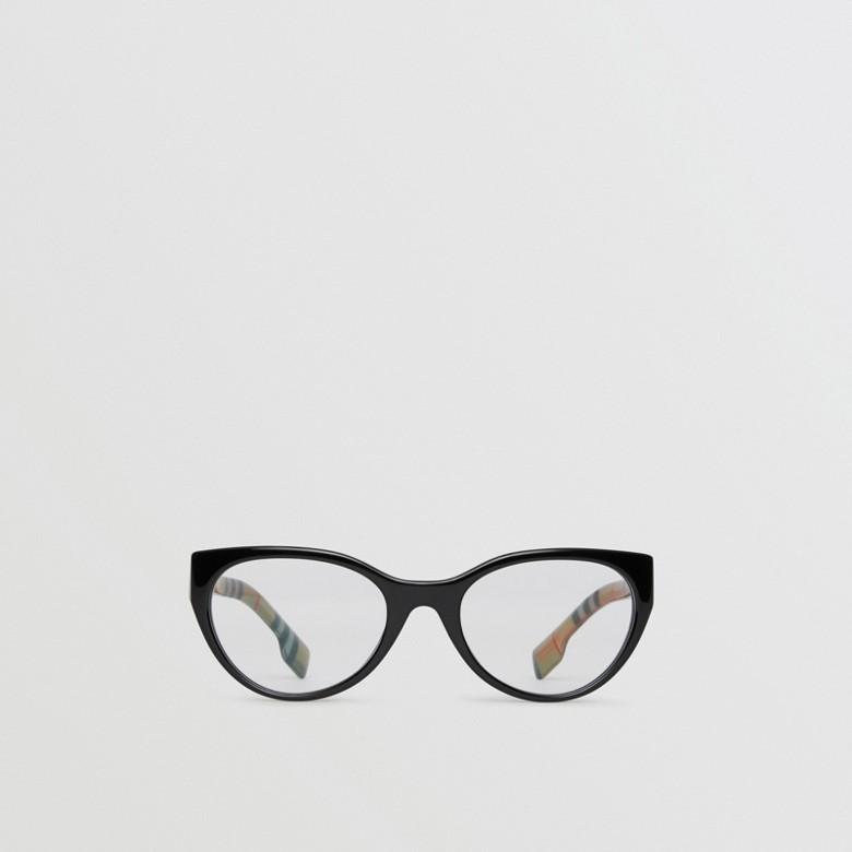 Burberry - Monture œil de chat pour lunettes de vue avec motif Vintage check - 1