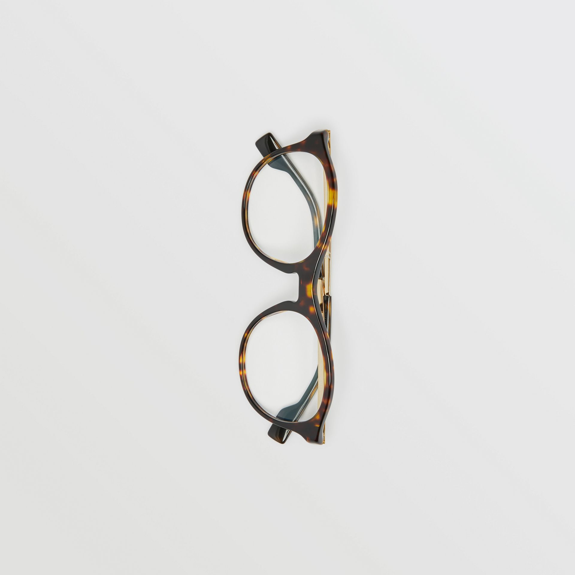 Round Optical Frames in Tortoise Shell - Women | Burberry - gallery image 3