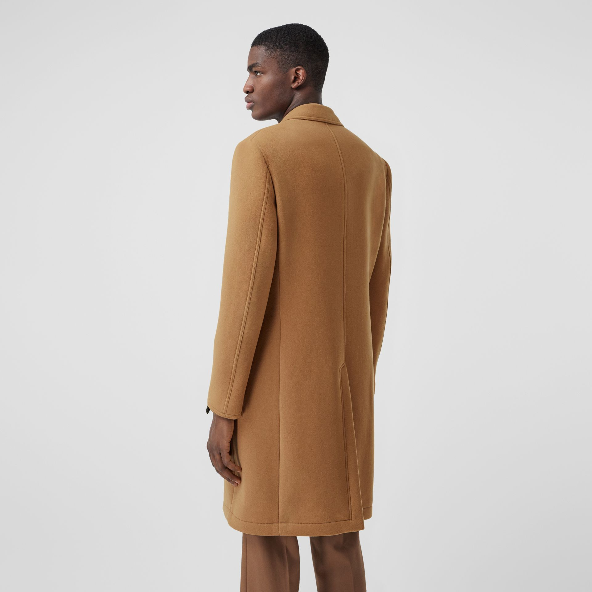 Zip Detail Wool Tailored Coat in Warm Camel - Men | Burberry - gallery image 2