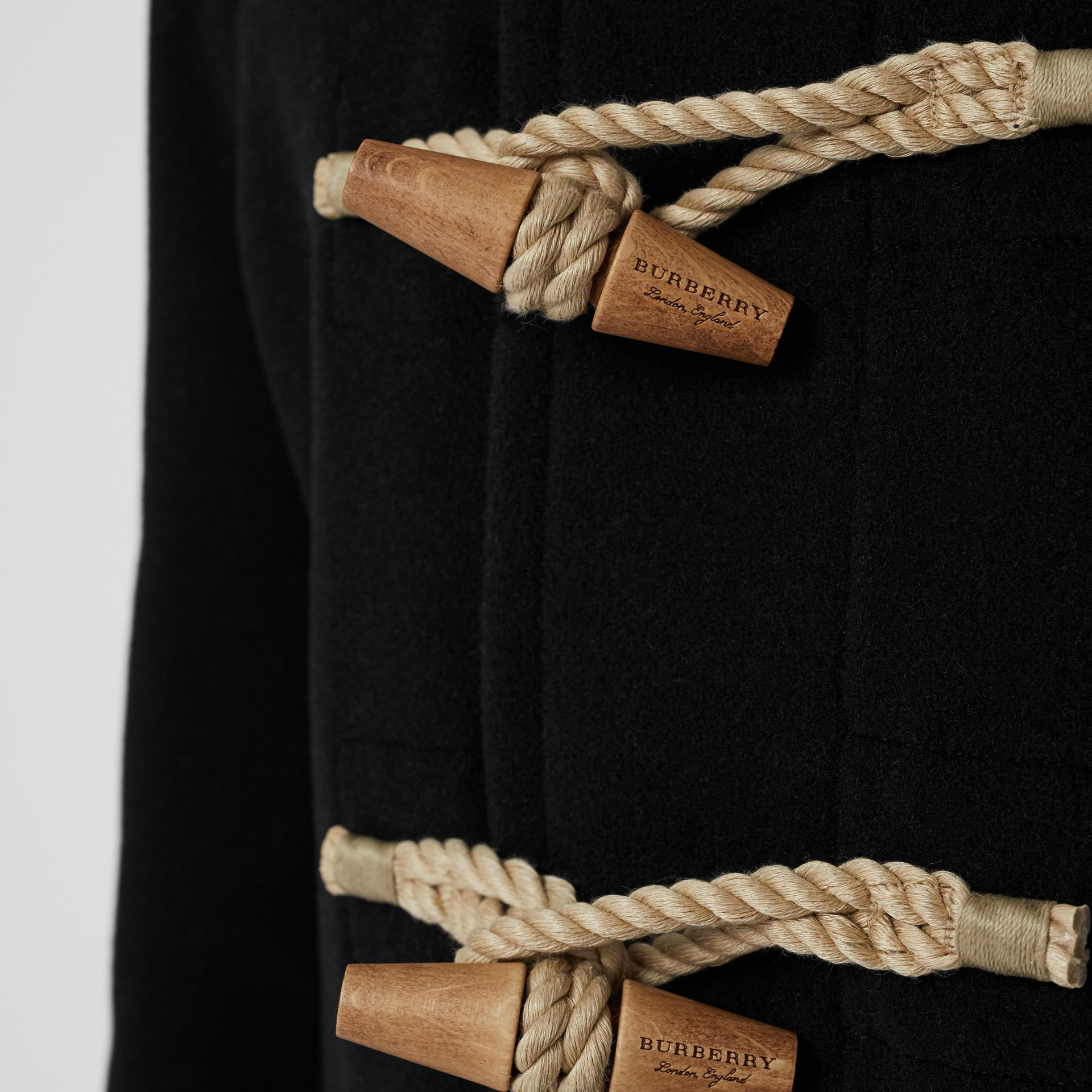 The Greenwich Duffle Coat in Black - Men | Burberry - gallery image 1