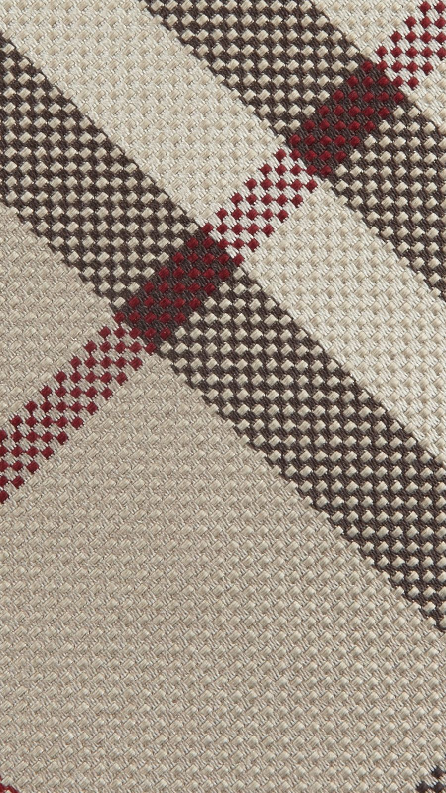 Smoked trench Modern Cut Check Silk Tie - Image 2