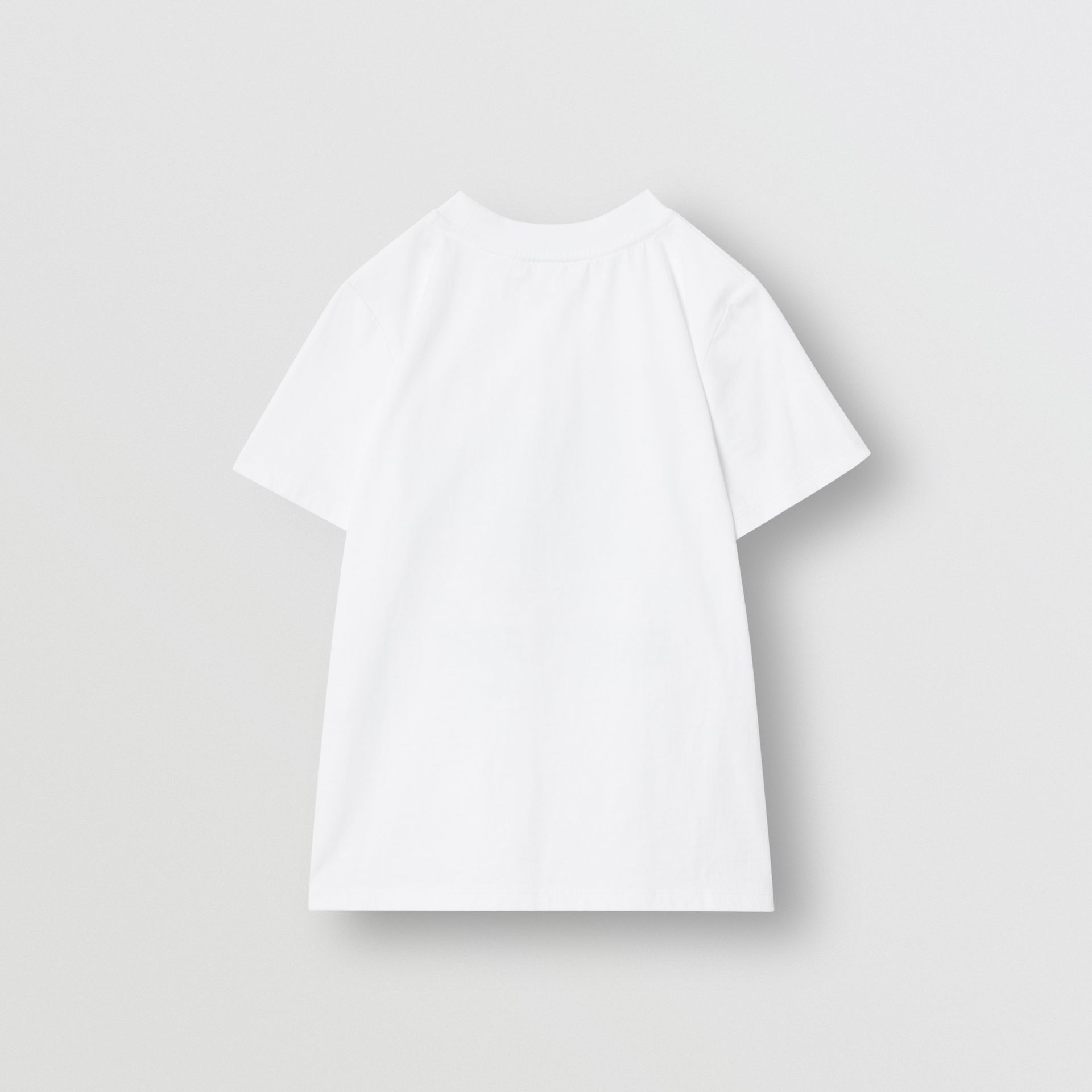 Vintage Photo Print Cotton T-shirt in White | Burberry - gallery image 4