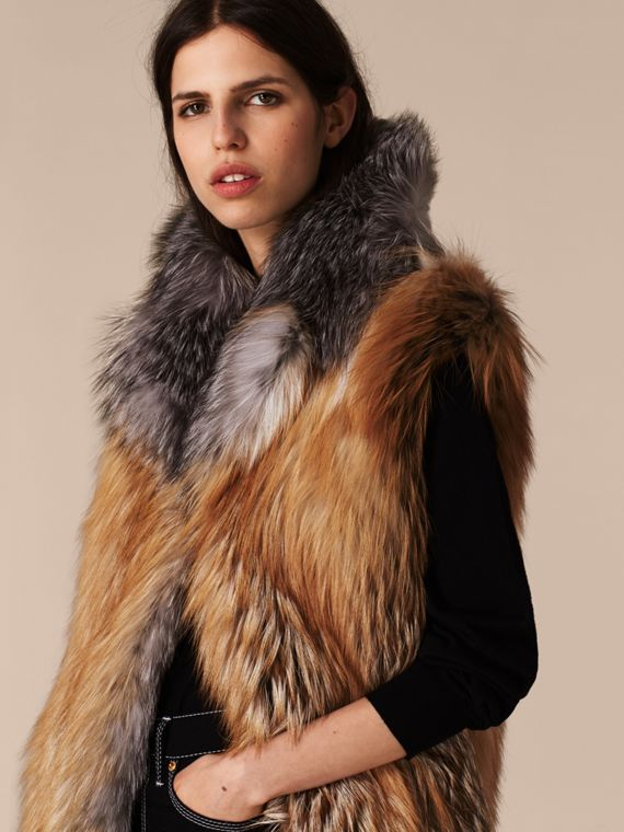 Bright toffee Fox Fur Gilet - cell image 3