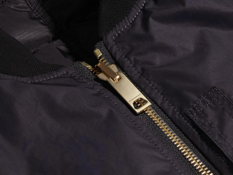 Navy Reversible Down-filled Bomber Jacket - cell image 1