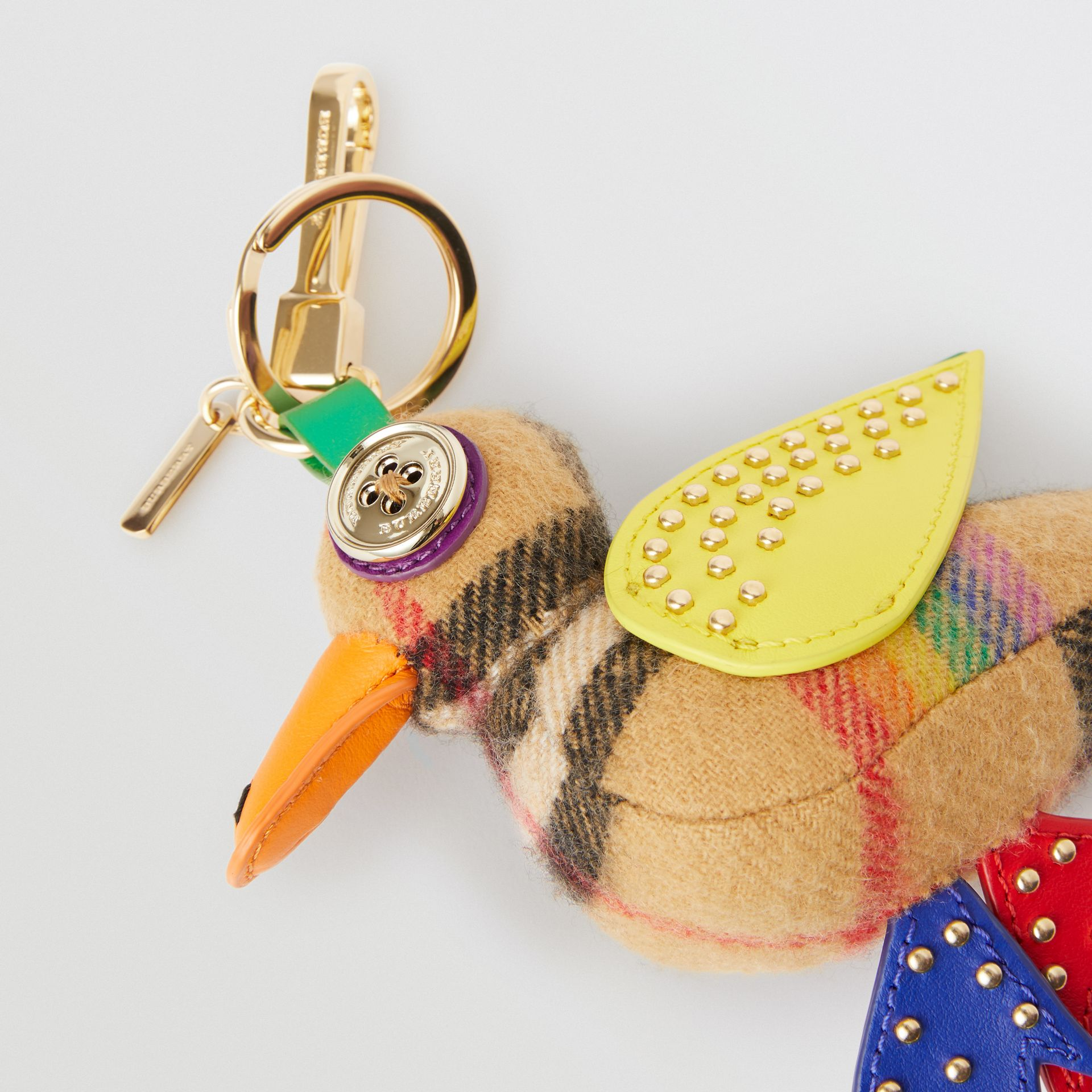 Barry The Duck Rainbow Vintage Check Charm in Multicolour/antique Yellow | Burberry Australia - gallery image 1