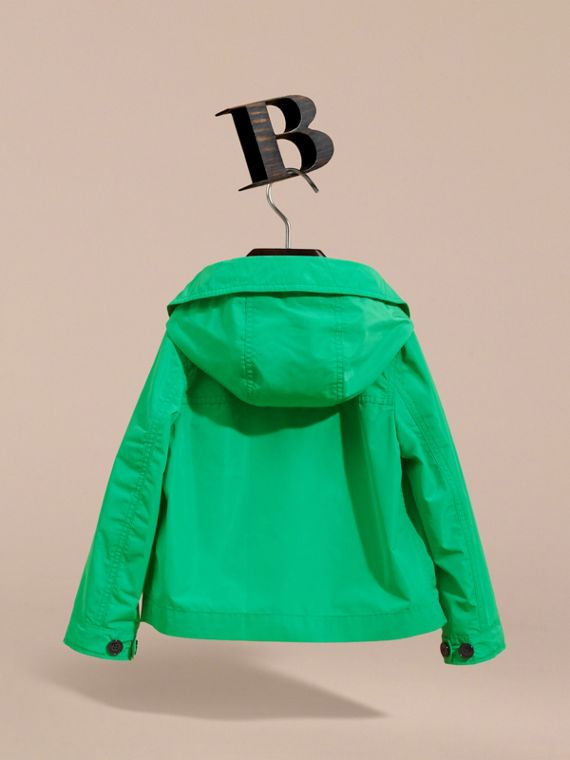 Hooded Field Jacket in Bright Green - Boy | Burberry - cell image 3