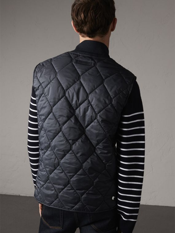 Diamond Quilted Gilet in Navy - Men | Burberry - cell image 2