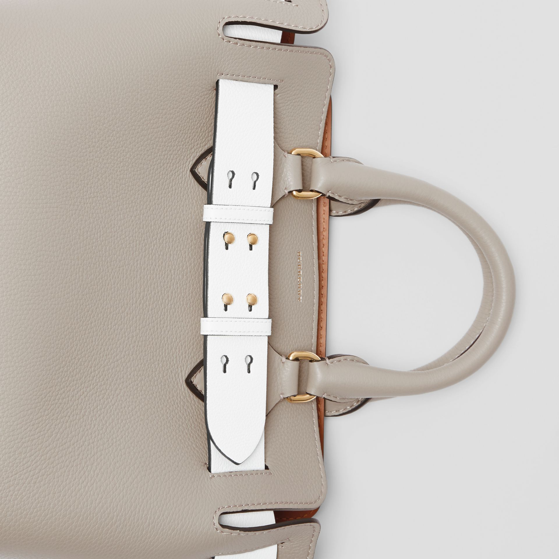 The Small Tri-tone Leather Belt Bag in Mineral Grey - Women | Burberry United Kingdom - gallery image 1