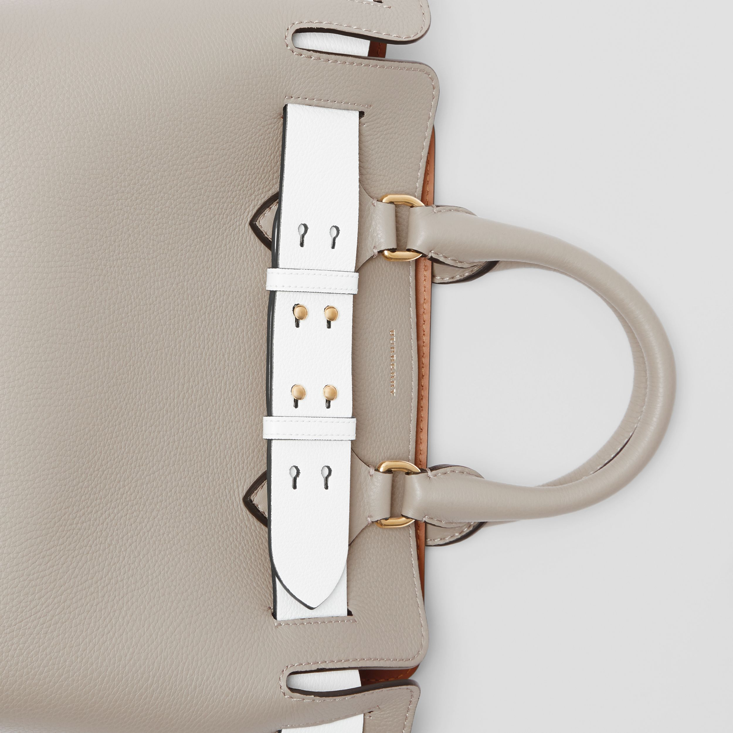 The Small Tri-tone Leather Belt Bag in Mineral Grey - Women | Burberry - 2