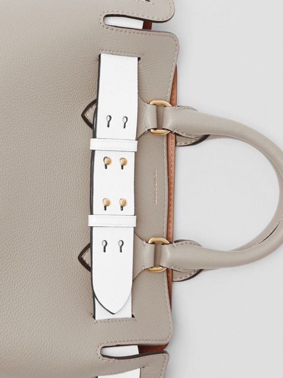 The Small Tri-tone Leather Belt Bag in Mineral Grey - Women | Burberry United Kingdom - cell image 1