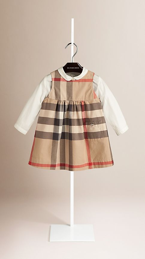 New classic Check Cotton Dress - Image 1