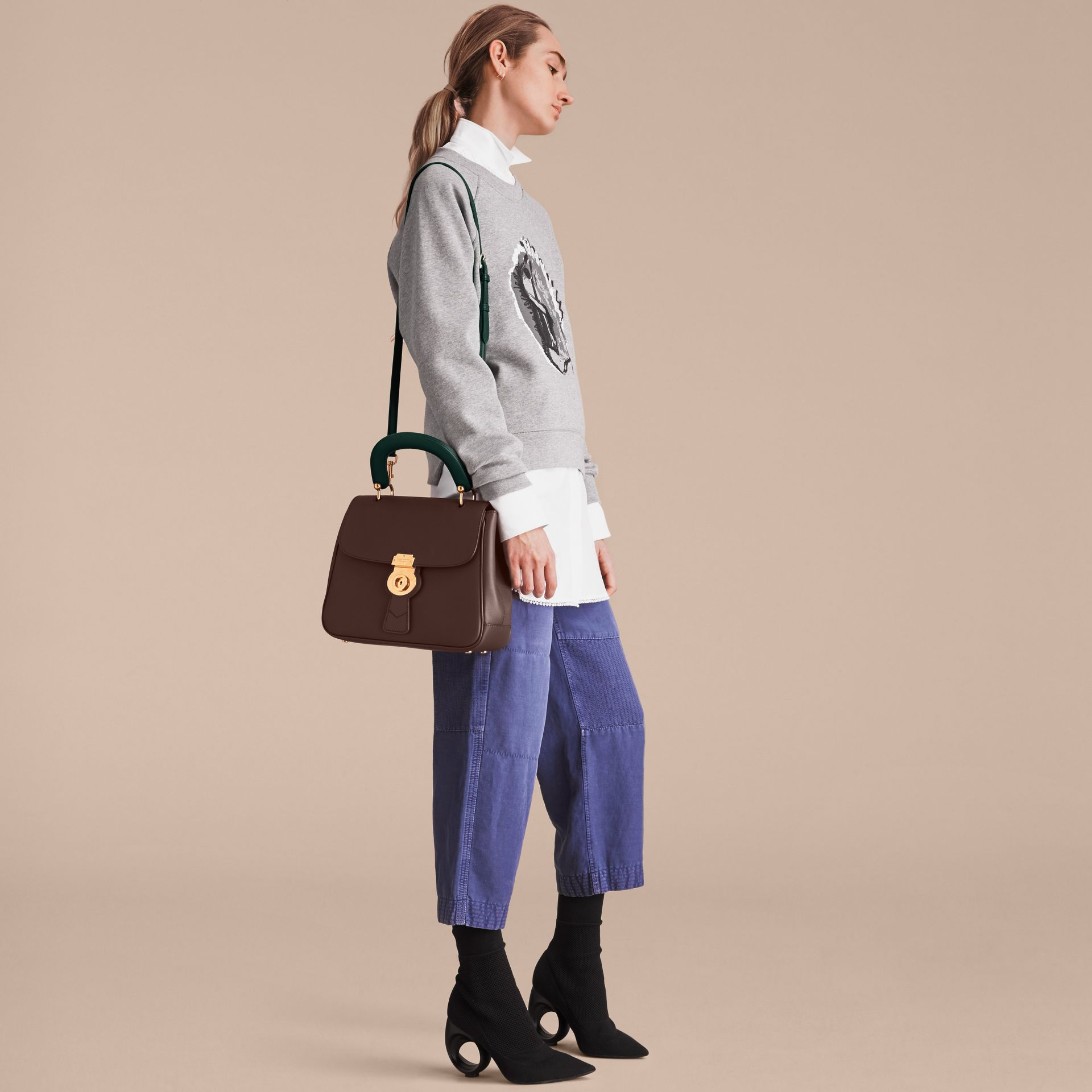 The Medium DK88 Top Handle Bag Dark Chocolate - gallery image 5