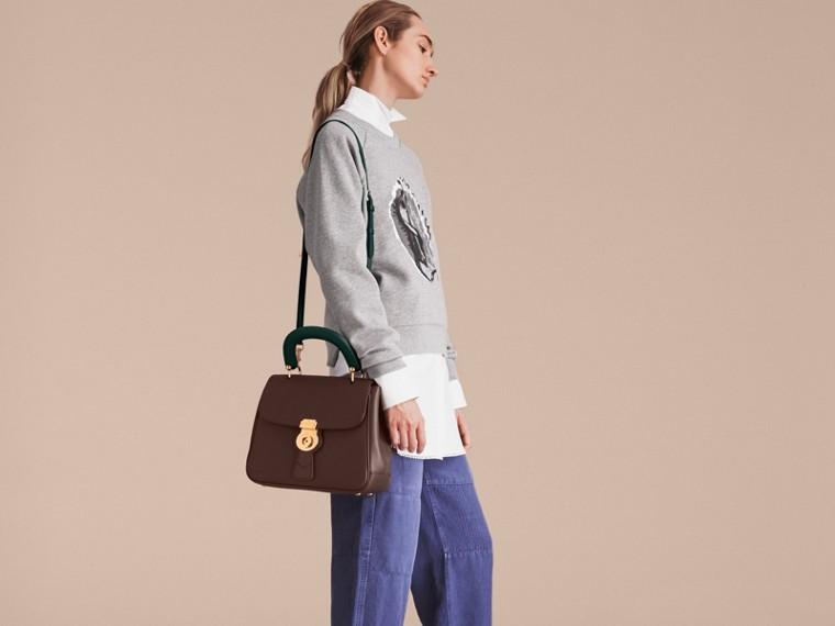 The Medium DK88 Top Handle Bag Dark Chocolate - cell image 4