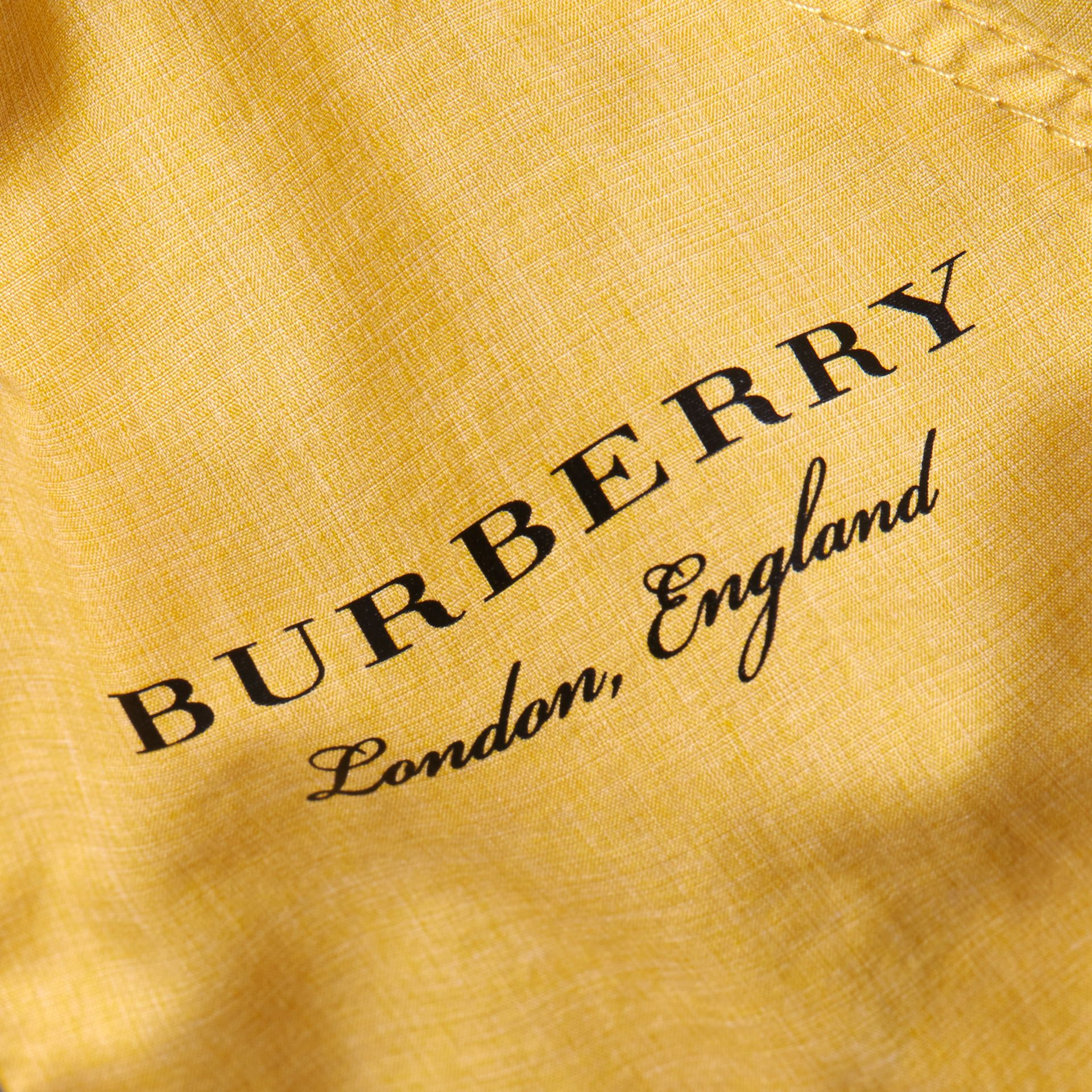 Showerproof Hooded Jacket in Gorse Yellow | Burberry - gallery image 2