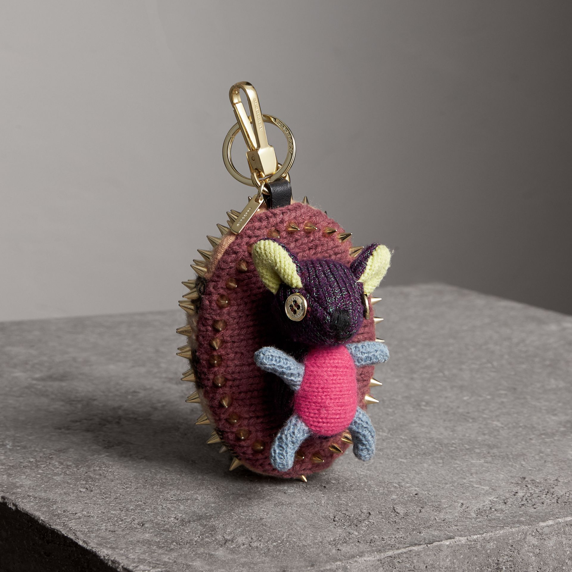 Bob The Hedgehog Cashmere Charm in Camel | Burberry - gallery image 0
