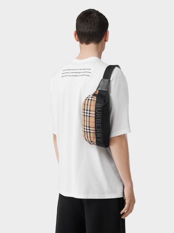 Medium Vintage Check Bum Bag in Archive Beige | Burberry Australia - cell image 1
