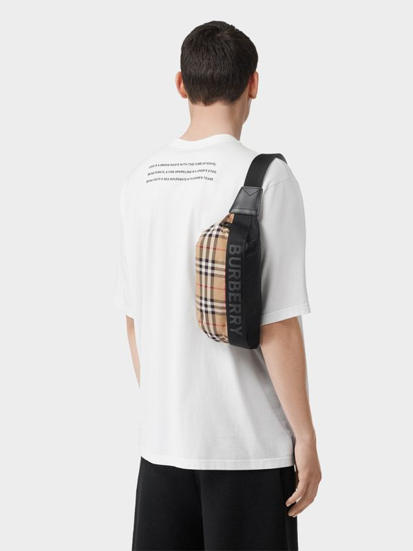 Medium Vintage Check Bum Bag in Archive Beige | Burberry - cell image 2