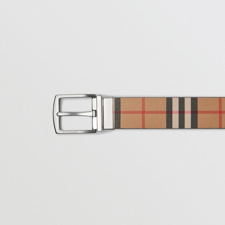 Burberry - Wendbarer Ledergürtel in Vintage Check - 2