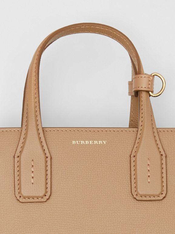 The Small Banner in Leather and Vintage Check in Camel - Women | Burberry - cell image 1