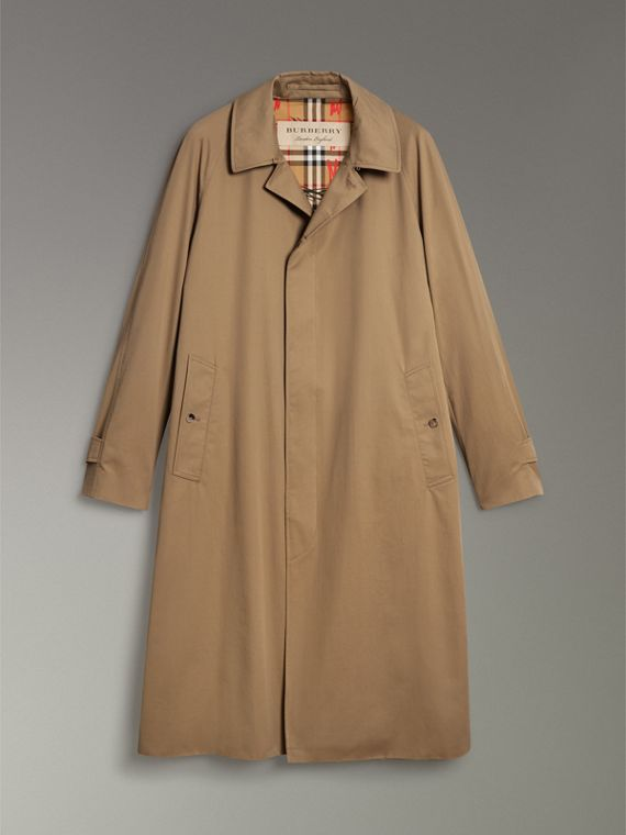 Cotton Gabardine Car Coat in Camel - Men | Burberry - cell image 3