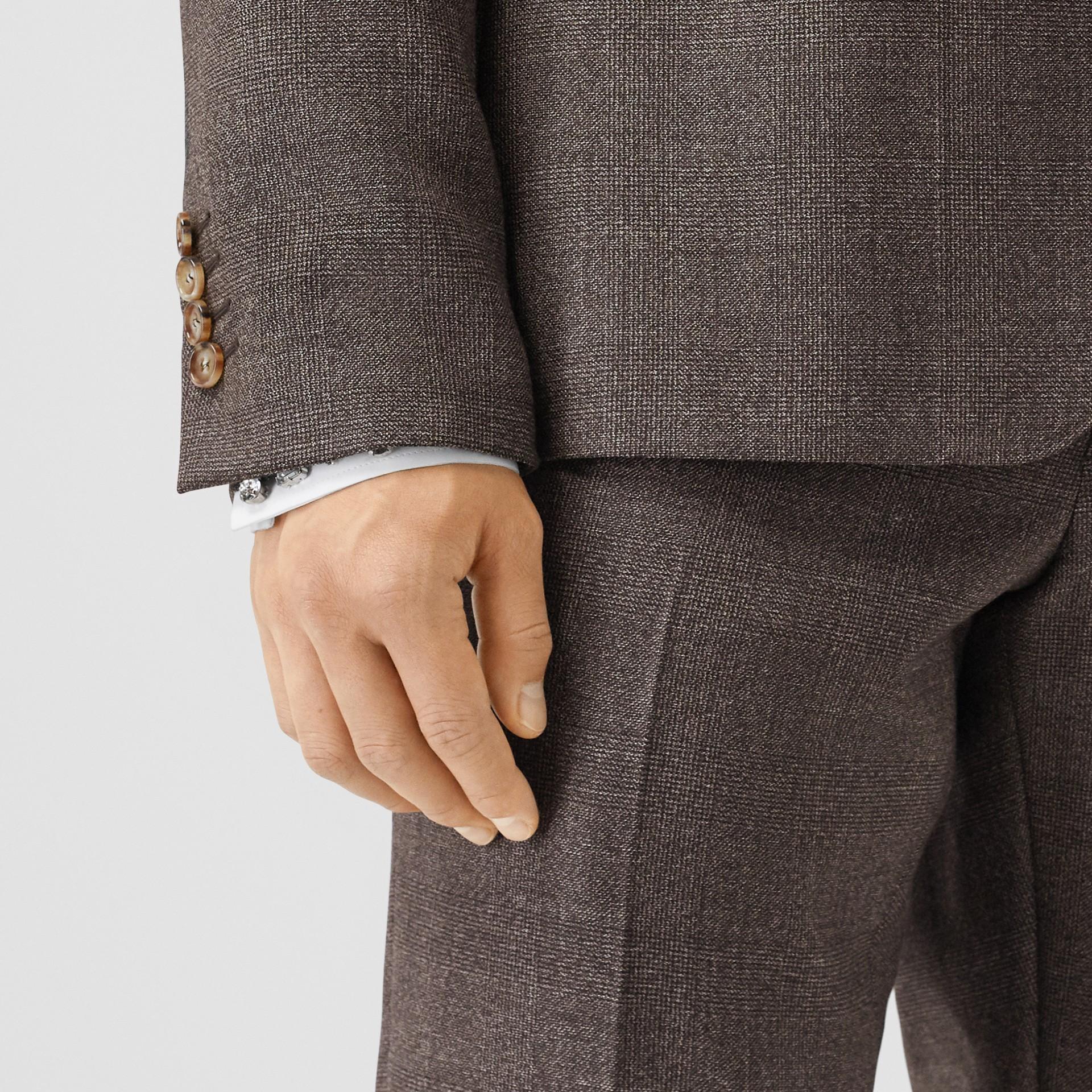 Slim Fit Wool Suit in Dark Brown - Men | Burberry - gallery image 4