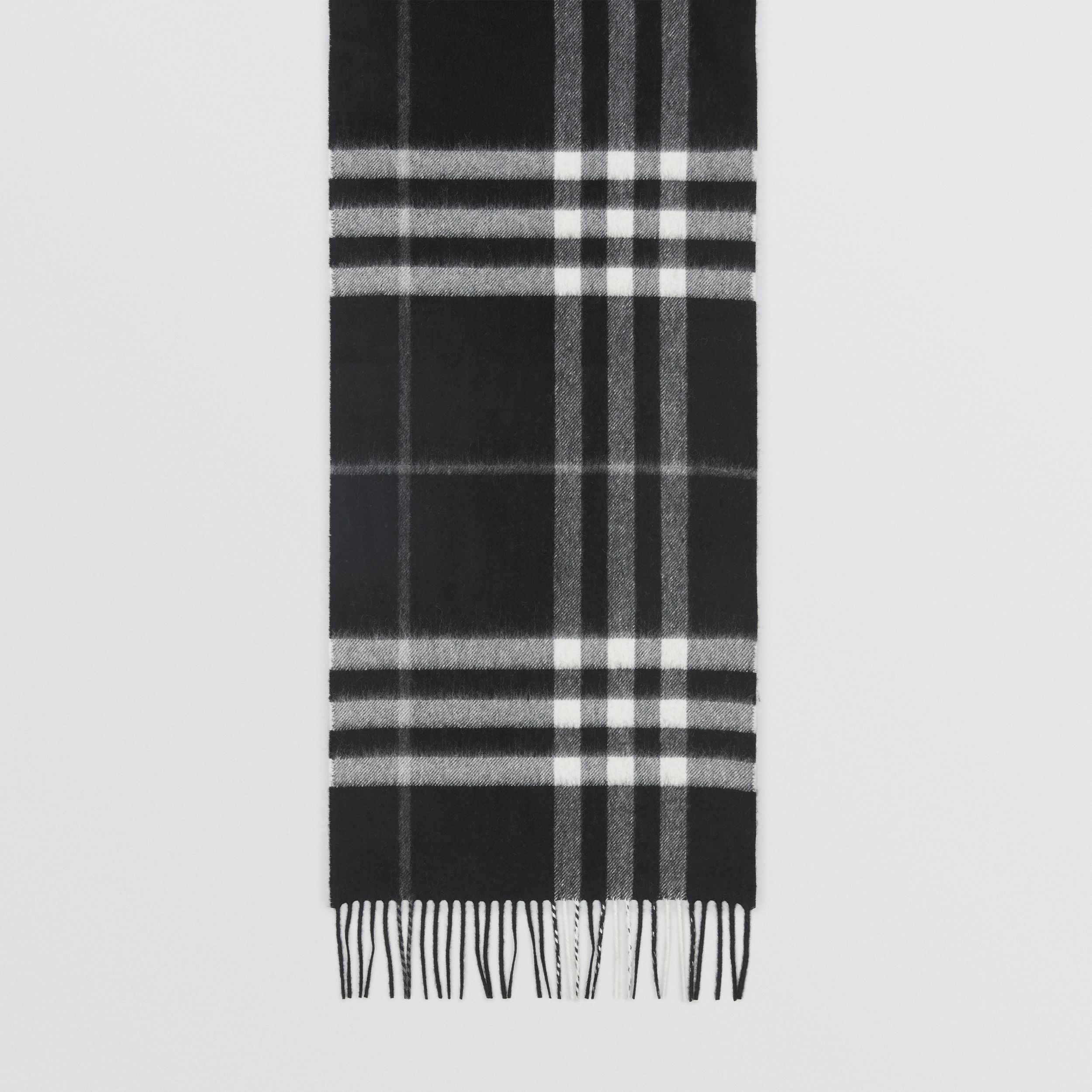 The Classic Check Cashmere Scarf in Black | Burberry - 3