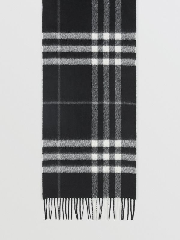 The Classic Check Cashmere Scarf in Black | Burberry - cell image 2