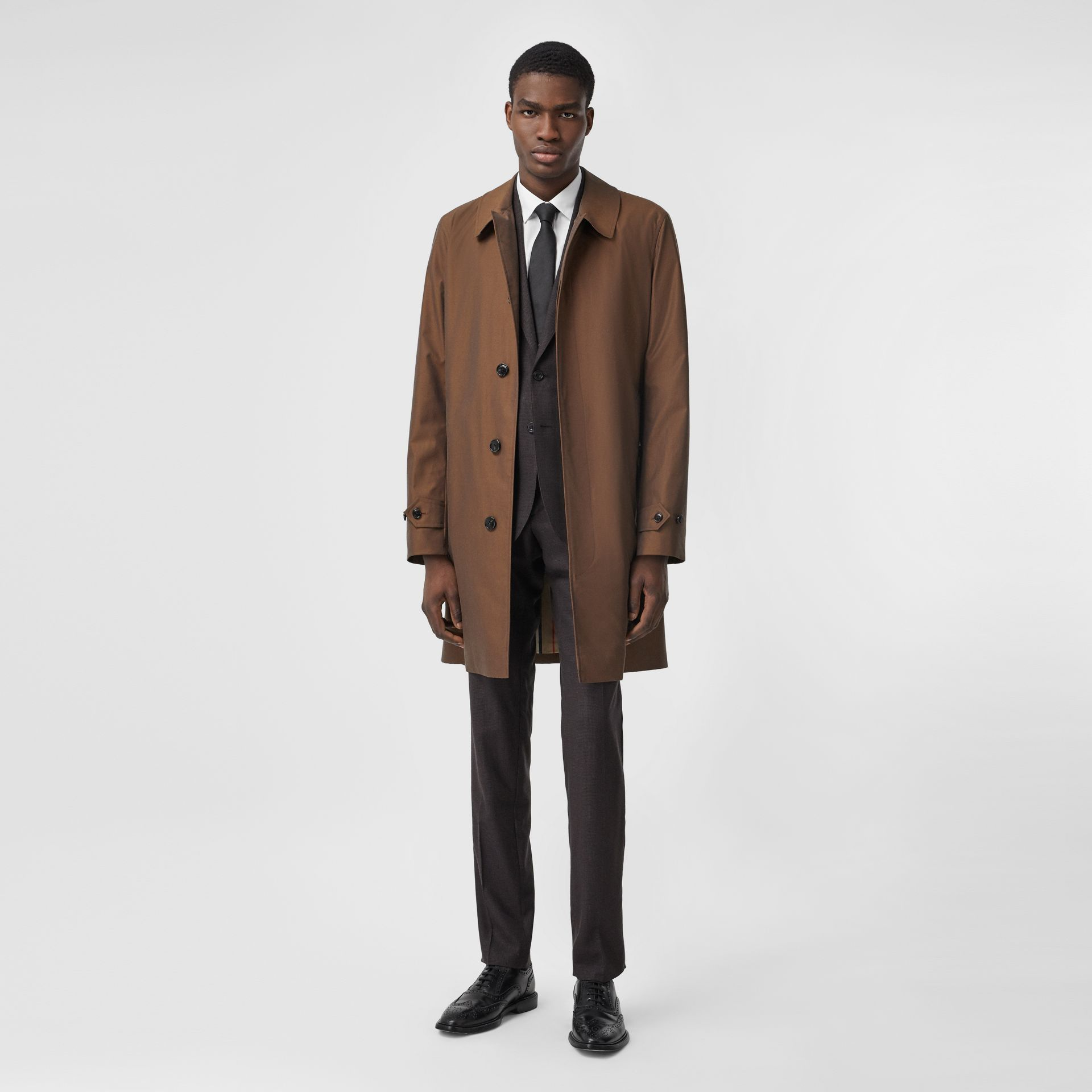 The Pimlico Heritage Car Coat in Amber Brown - Men | Burberry Canada - gallery image 0
