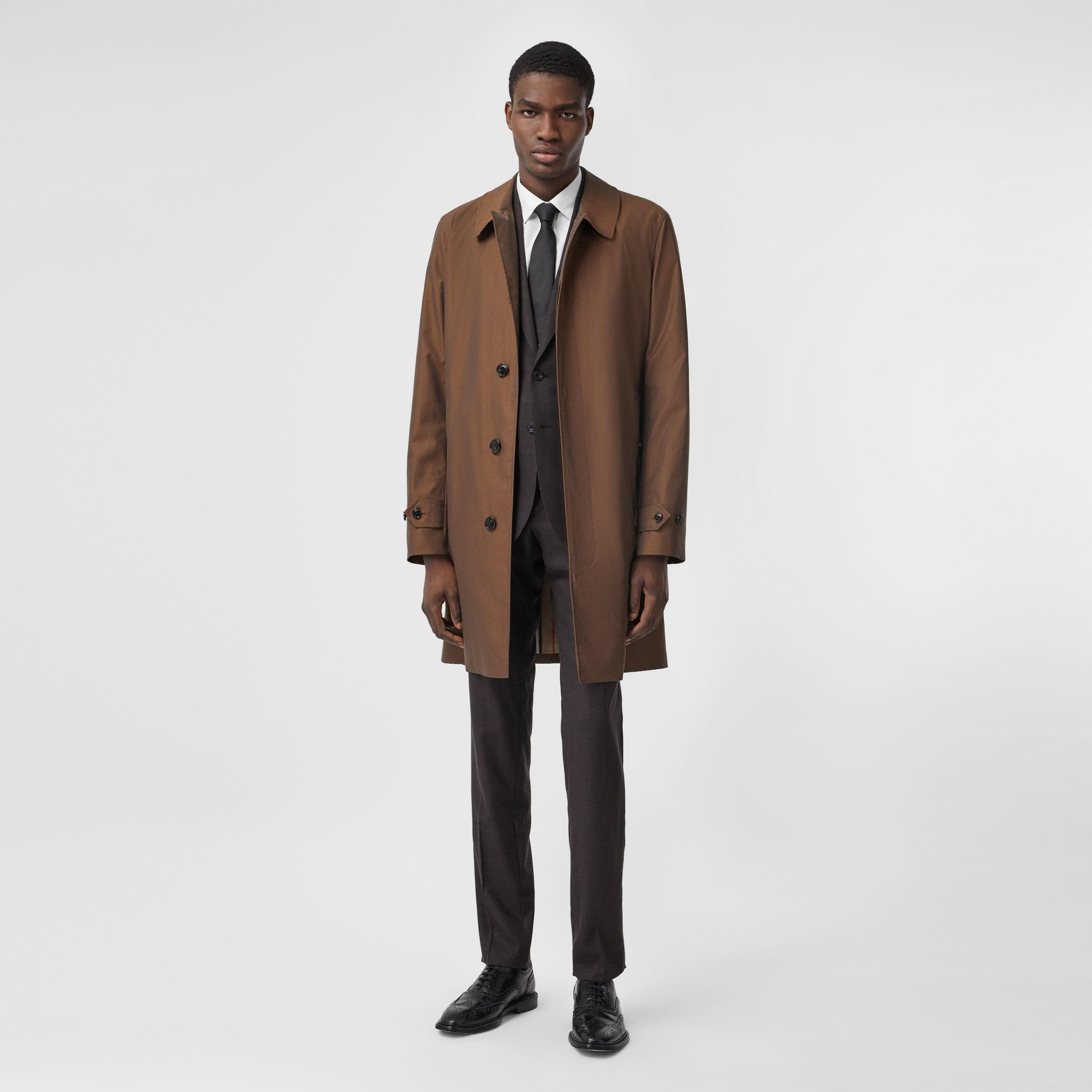 The Pimlico Heritage Car Coat in Amber Brown - Men | Burberry - 1