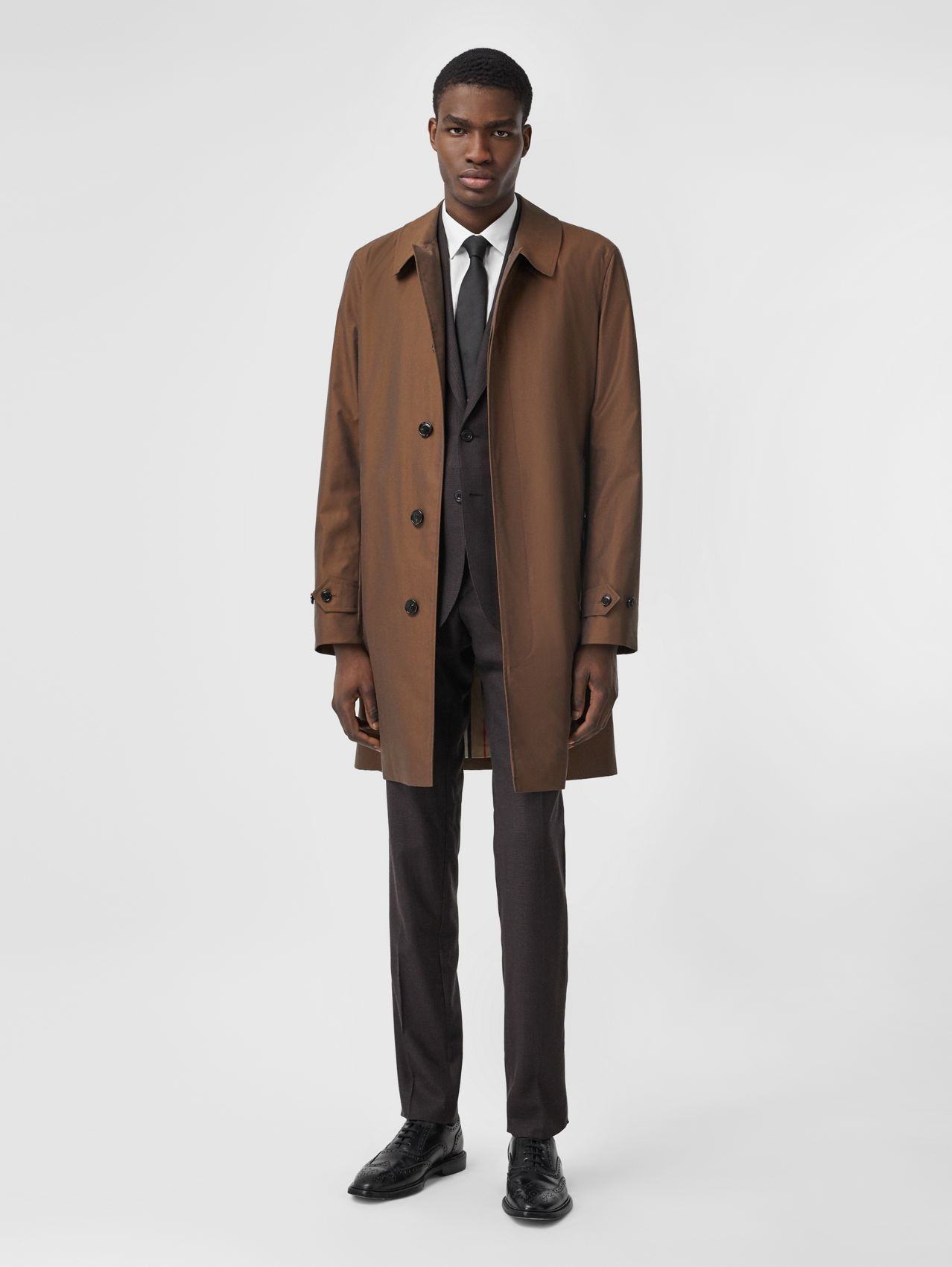 The Pimlico Heritage Car Coat (Amber Brown)