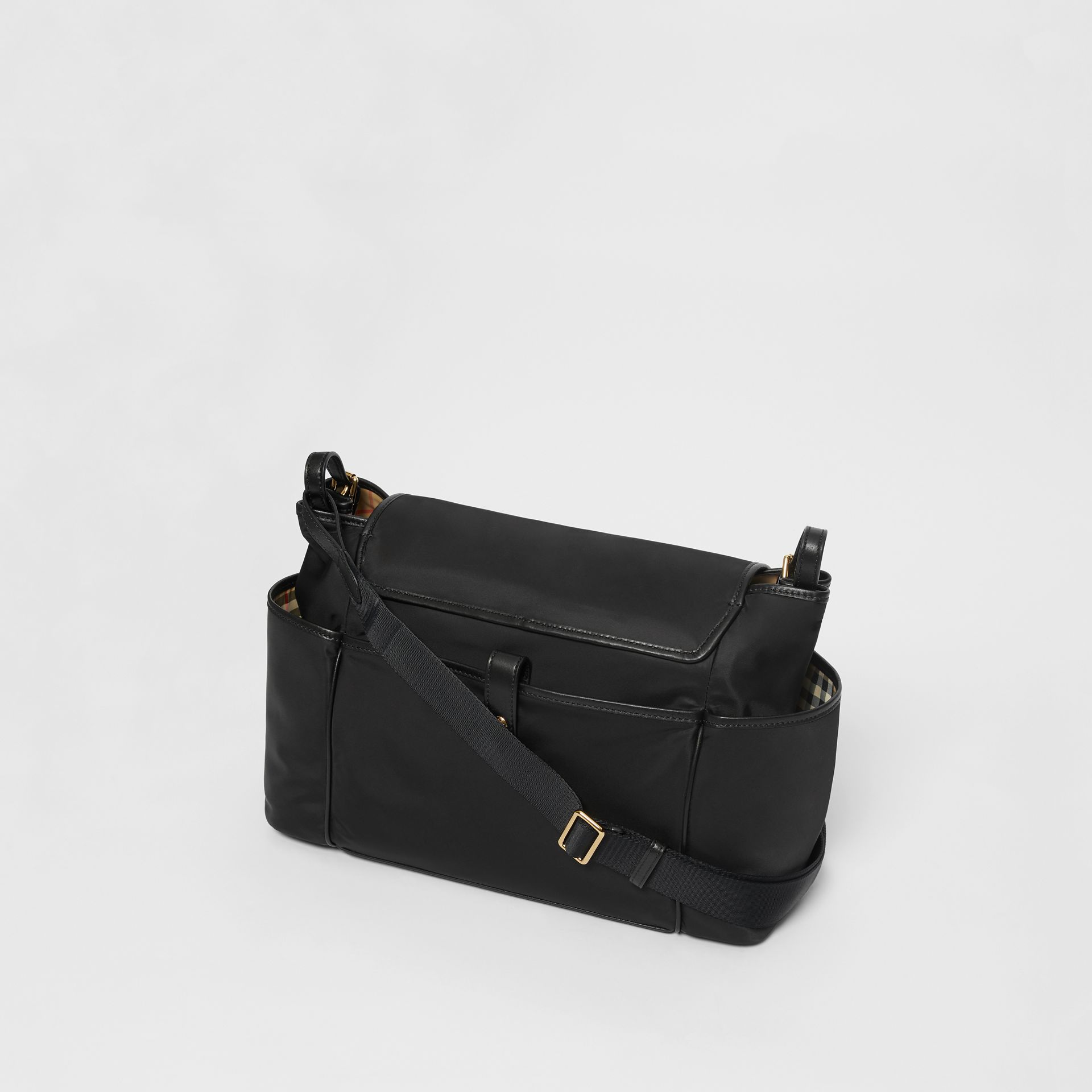 Logo Print Baby Changing Bag in Black - Children | Burberry United Kingdom - gallery image 2