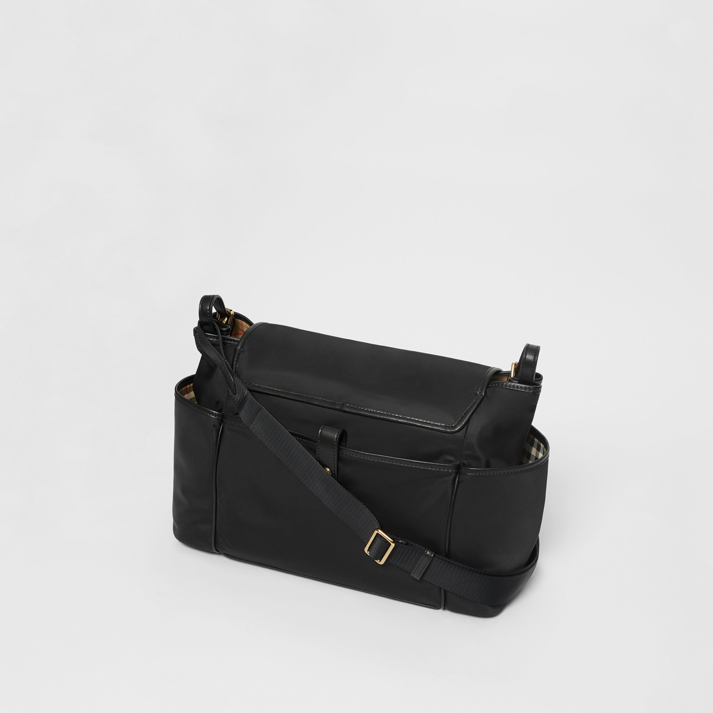 Logo Print Baby Changing Bag in Black - Children | Burberry - 3