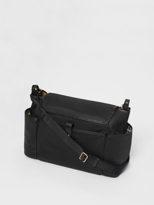 Logo Print Baby Changing Bag in Black - Children | Burberry United Kingdom - cell image 2
