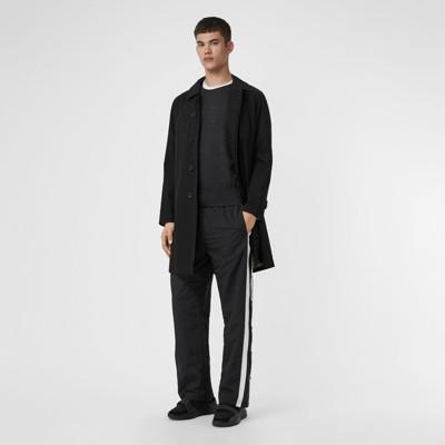 Burberry - Pull en laine mérinos à détails check - 5