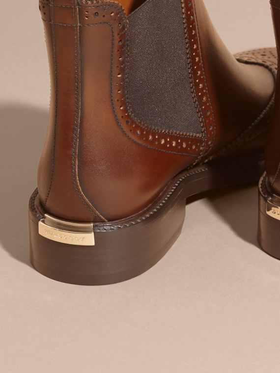 Leather Wingtip Chelsea Boots - cell image 2