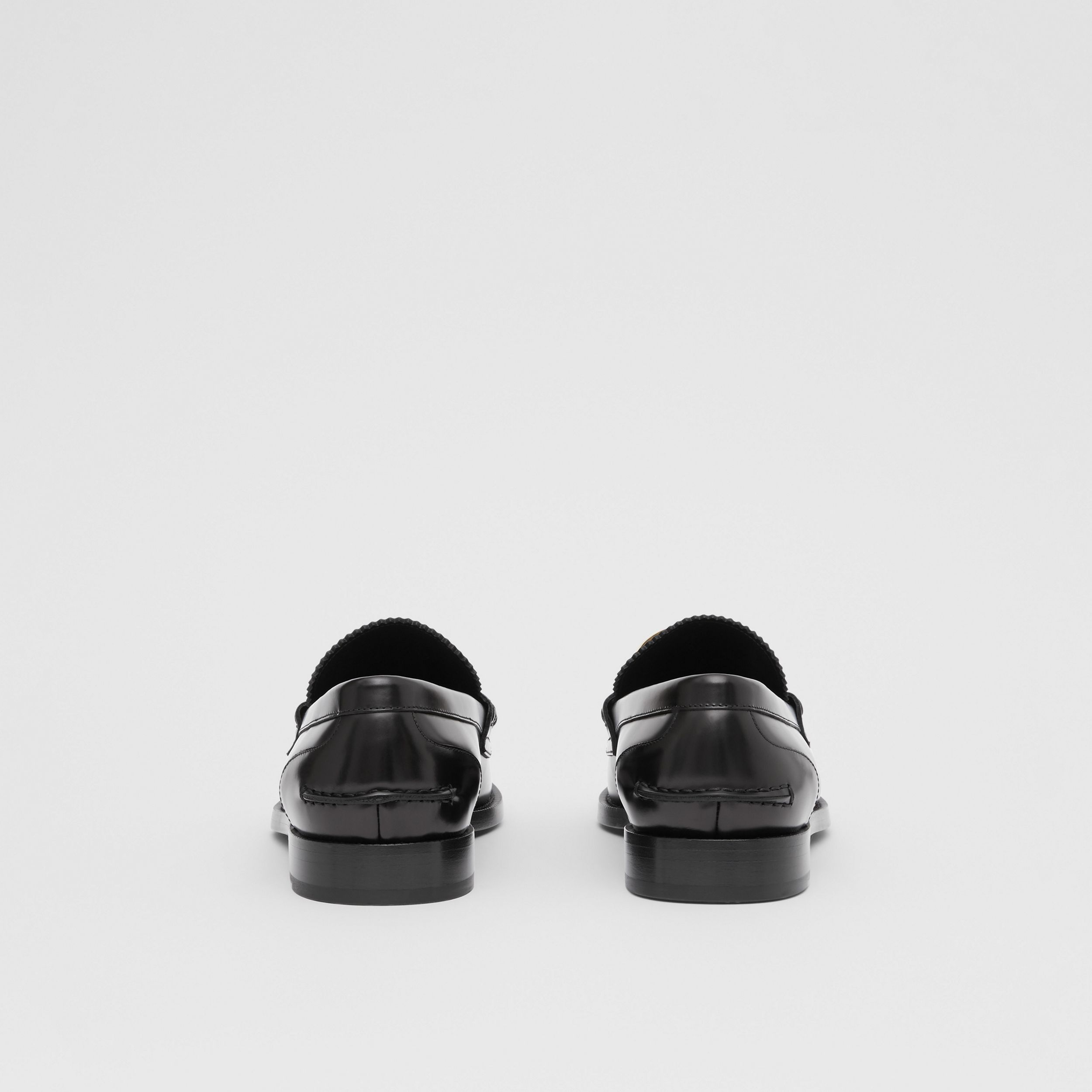 Monogram Motif Leather Loafers in Black - Men | Burberry Canada - 4