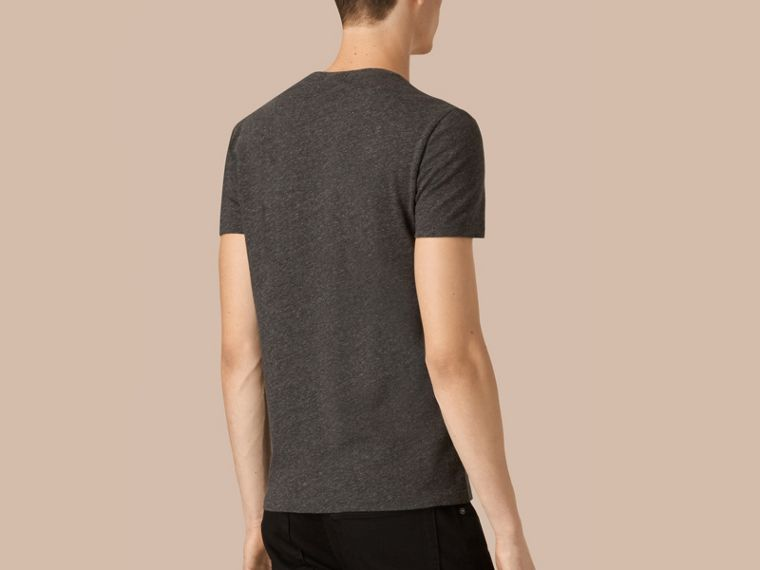 Liquid-soft Cotton T-Shirt Dark Grey Melange - cell image 2