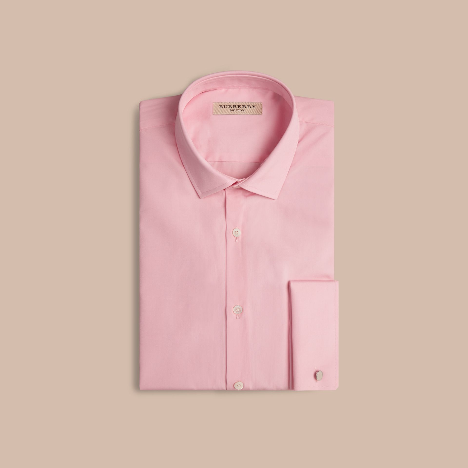 City pink Modern Fit Double-cuff Cotton Poplin Shirt City Pink - gallery image 4